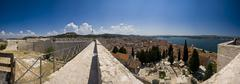 Stonewalls of St.Michael and the Sibenik channel - stock photo