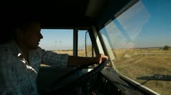 Driving Truck Stock Footage