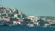 Stock Video Footage of Bosphorus ships d