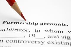 Partnership account Stock Photos