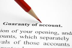 Stock Photo of guaranty of account
