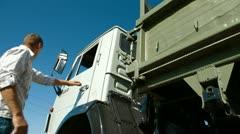 Dump Truck Driving - stock footage