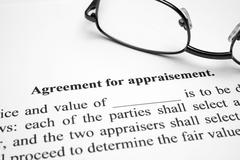 agreement for aparaisement - stock photo