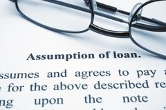 assumption of loan - stock photo
