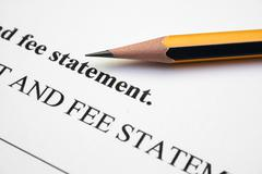 Stock Photo of fee statement