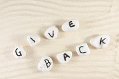 give back words - stock photo