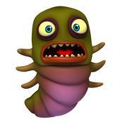 green worm - stock illustration