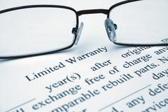 Stock Photo of limited warranty
