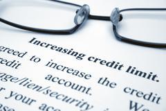 credit limit - stock photo