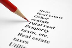 property and taxes - stock photo