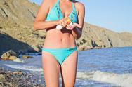 Smear cream sunburn Stock Photos