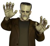 frankenstein's monster - stock illustration