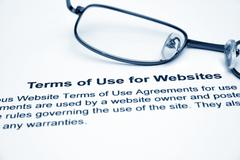 Stock Photo of terms of use for websites