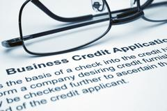 business credit application - stock photo