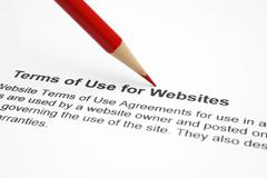 Terms of use for websites Stock Photos