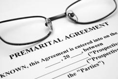 premerital agreement - stock photo