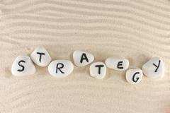 Stock Photo of strategy word