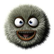 furry alien - stock illustration