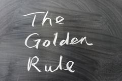 the golden rule - stock photo