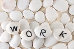 Stock Photo of work word