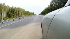 Cars go quickly on high-speed highway in Vologda Stock Footage