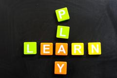 Stock Photo of learn or play
