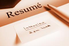resume and appointment - stock photo