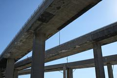 Side view of highway viaducts Stock Photos