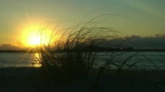 Sunrise over carolina islands Stock Footage