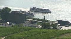 Germany - Ruedesheim - Rhine River Stock Footage