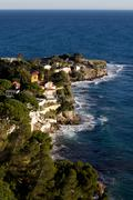 The coast along the c?te d'azur in france Stock Photos