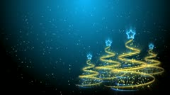 Christmas Trees Background - Merry Christmas 61 (HD) Stock Footage