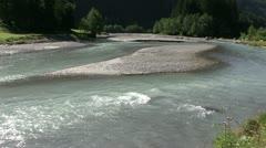 Austria - Tirol - Stubai valley - River Stock Footage