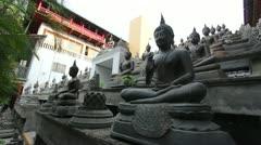 Sri Lanka buddhist temple Stock Footage