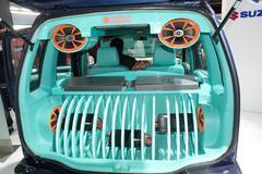 extreme bass speaker music car - stock photo