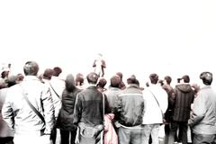 Crowd audience Stock Photos