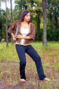 Beautiful martial artist outdoors (4) Stock Photos
