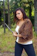 Beautiful martial artist outdoors (8) Stock Photos