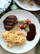 Steak dinner.jpg - stock photo