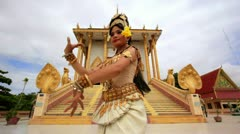Apsara Dancer beautiful supernatural female in asian mythology Stock Footage