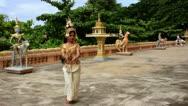 Apsara Dancer beautiful supernatural female in asian mythology Stock Footage
