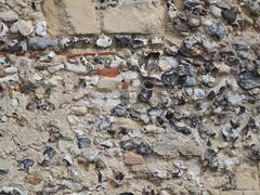 flint wall - stock photo