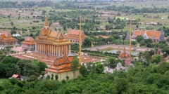Oudong, old capital city of cambodia before phnom penh Stock Footage