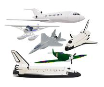 Vector collection of aircraft aeroplane Stock Illustration