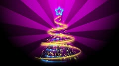 Christmas Tree Background - Merry Christmas 70 (HD) Stock Footage