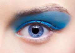 girl's eye-zone makeup - stock photo