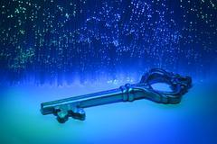 Fiber optical and key Stock Photos
