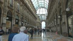 Milan.Galleria Vittorio Emanuele. Stock Footage