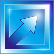 Blue arrow icon Stock Illustration