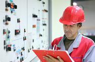 Control Room Engineer.jpg Stock Photos